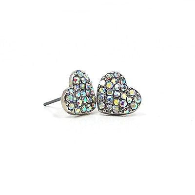Janise Heart Earrings in Iridescent