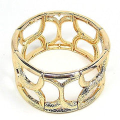 Giana Stretch Cuff Bracelet in Gold