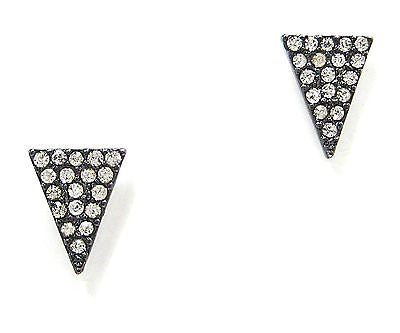 Hanna Triangle Stud Earrings in Gunmetal