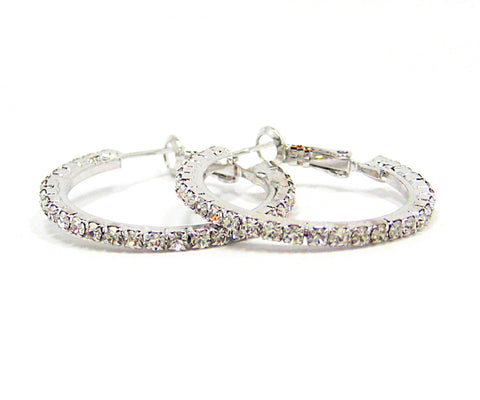 Kaysha Hoop Earrings in Silver