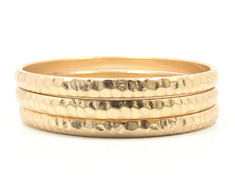 Zina Bangle Bracelets in Gold