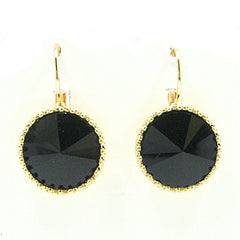 Erina Drop Earrings in Black