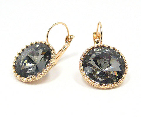 Erina Drop Earrings in Gray Smoke