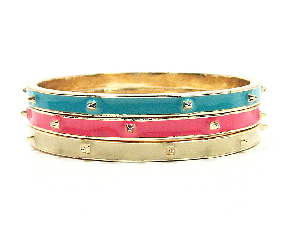 Rena Bangle Bracelets in Pastels