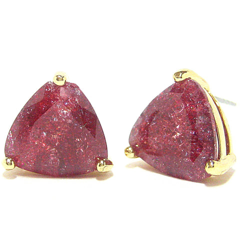 Color Pop Trillion Stud Earrings in Dark Plum
