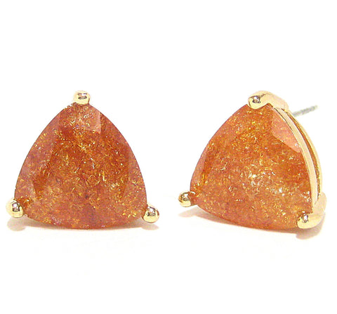 Color Pop Trillion Stud Earrings in Bronze