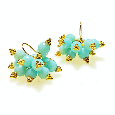 Brilliante Earrings in Amazonite - JulRe Designs LLC