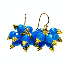 Brilliante Earrings in Blue Agate