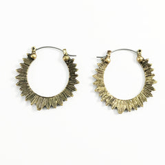 Clotilde Earrings in Antique Gold