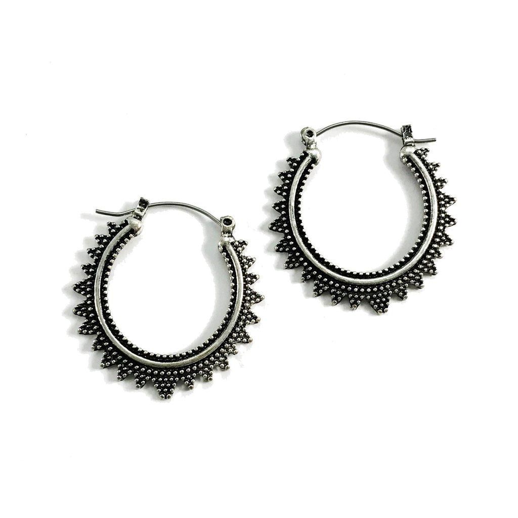 Clotilde Earrings in Antique Silver