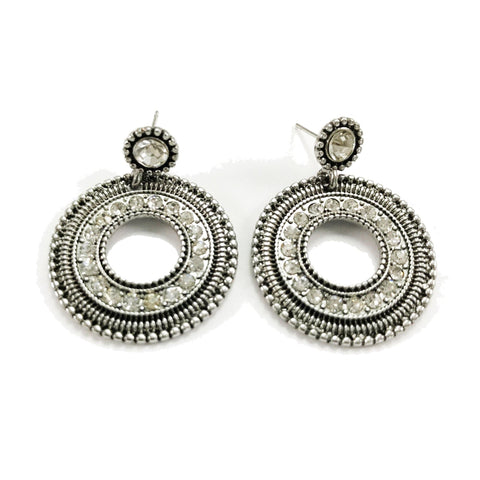 Davida Earrings in Silver