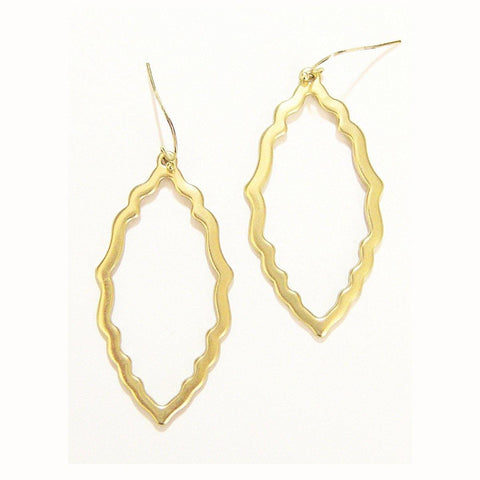 Eclectic Filagree Earrings in Matte Gold