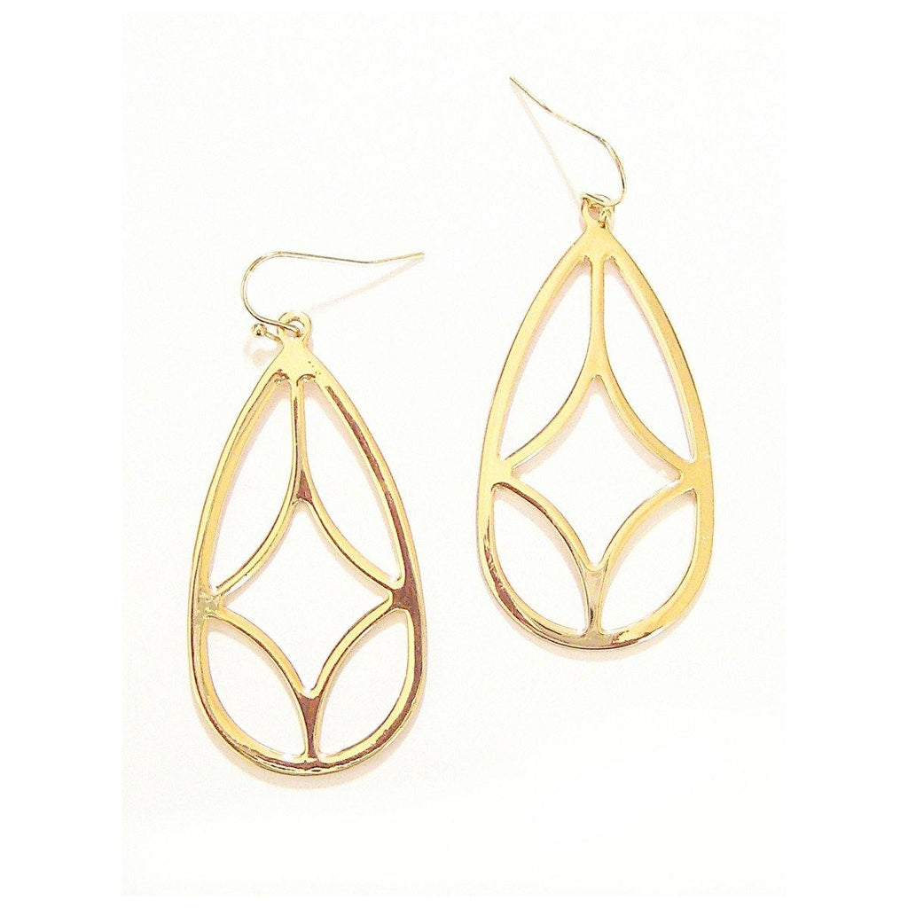 Eclectic Teardrop Earrings in Gold