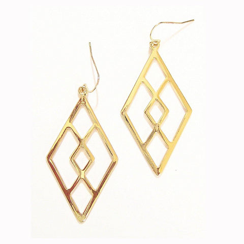 Eclectic Diamond Earrings in Gold