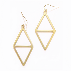 Eclectic Modern Diamond Earrings in Silver