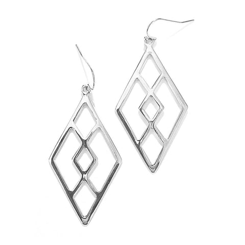 Eclectic Diamond Earrings in Silver