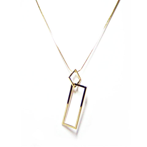 Eclectic Double Drop Necklace in Gold
