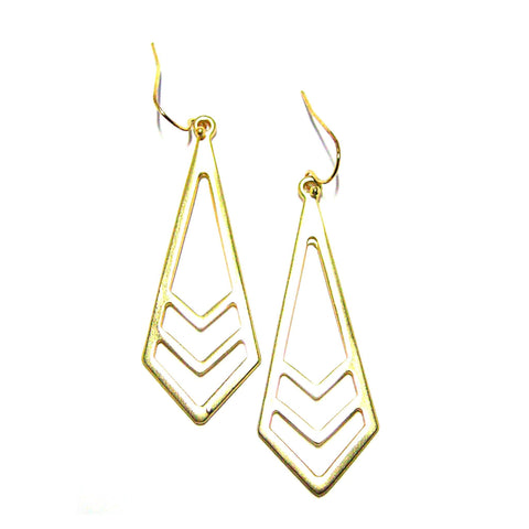 Eclectic Drop Earrings in Matte Gold