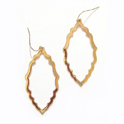 Eclectic Filagree Earrings in Gold