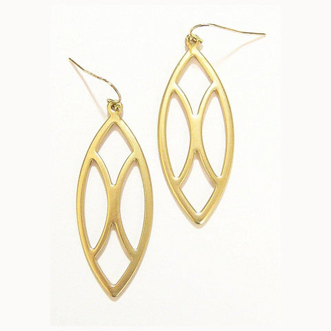 Eclectic Oval Earrings in Matte Gold