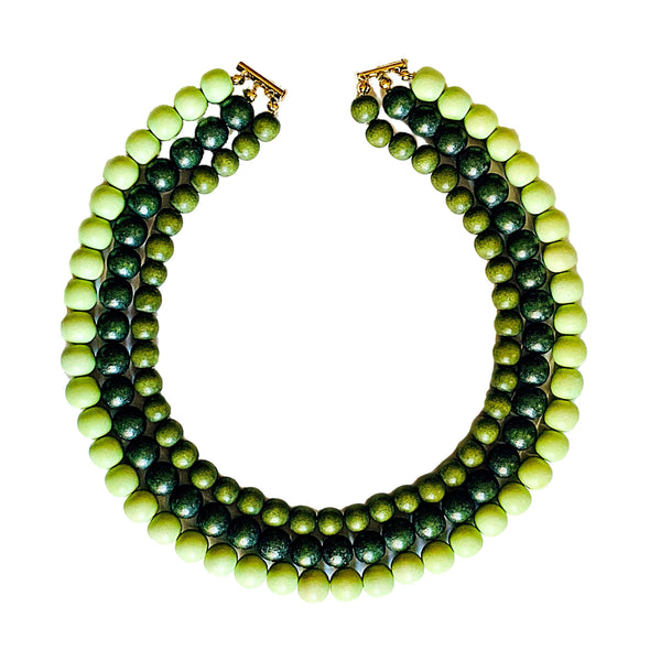 Gumball Necklace No. 4 in Greens