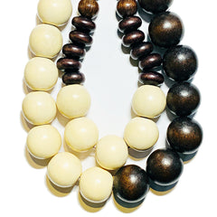 Gumball Necklace No. 1 in Brown and Cream