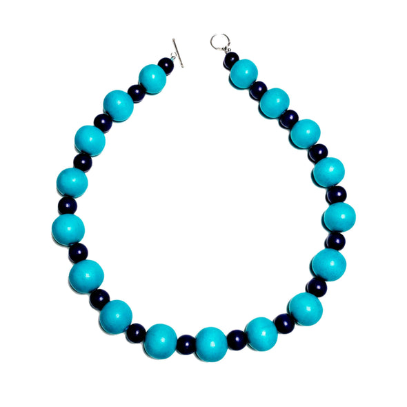 Gumball Necklace No. 1 in Blues - JulRe Designs LLC