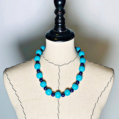 Gumball Necklace No. 1 in Blues