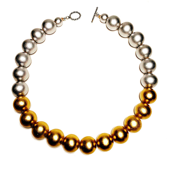 Gumball Necklace No. 1 in Gold and Silver - JulRe Designs LLC