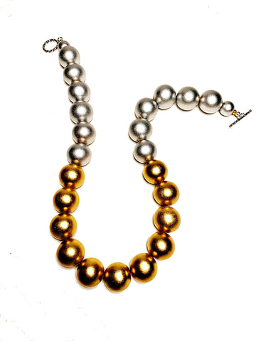 Gumball Necklace No. 1 in Gold and Silver