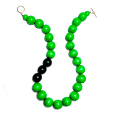 Gumball Necklace No. 1 in Greens