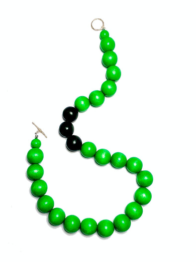 Gumball Necklace No. 1 in Greens - JulRe Designs LLC