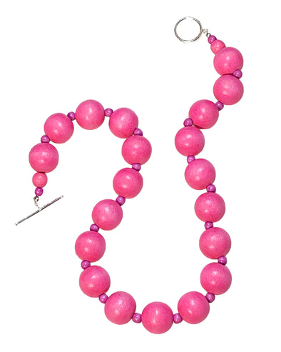 Gumball Necklace No. 1 in Light Pinks - JulRe Designs LLC