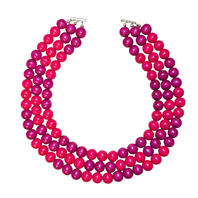Gumball Necklace No. 3 in Pinks - JulRe Designs LLC