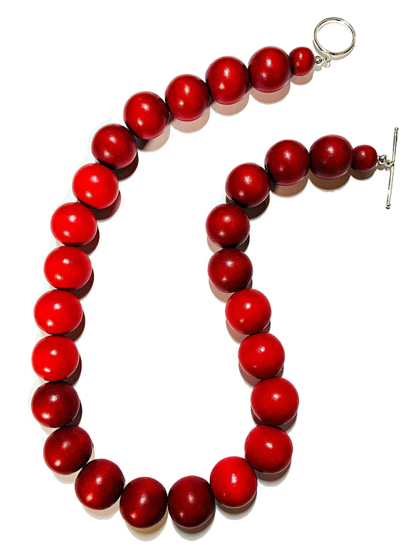 Gumball Necklace No. 1 in Reds - JulRe Designs LLC