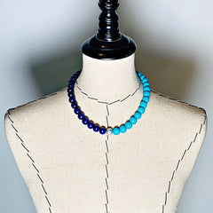 Gumball Necklace No. 2 in Blues