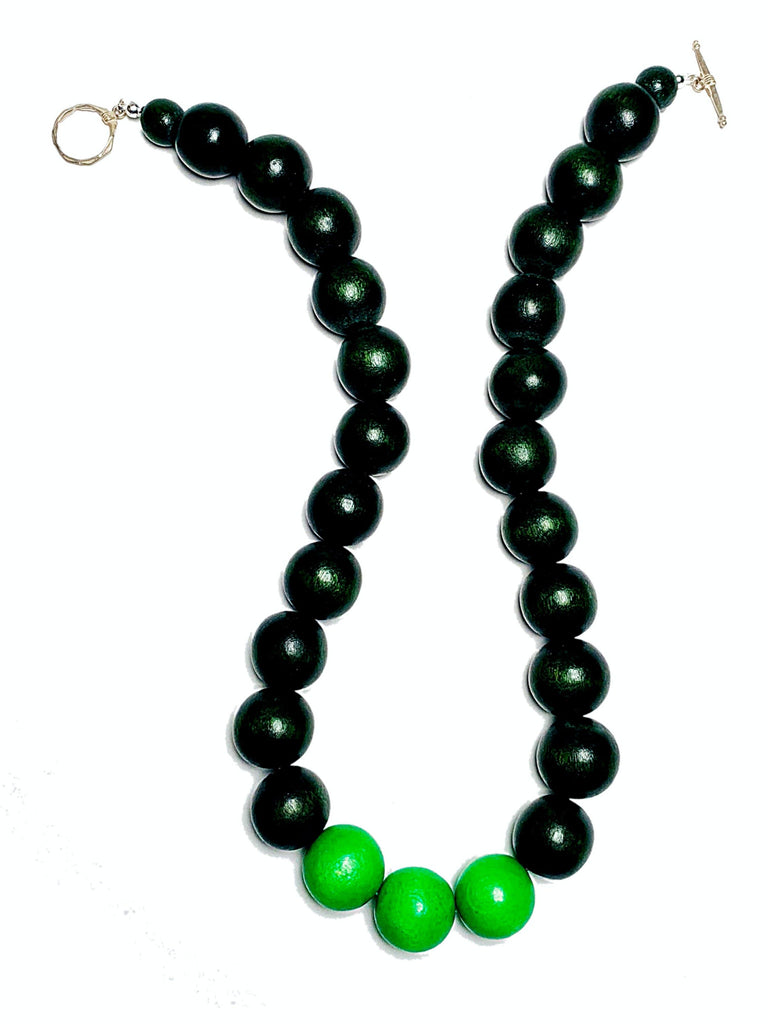 Gumball Necklace No. 2 in Greens