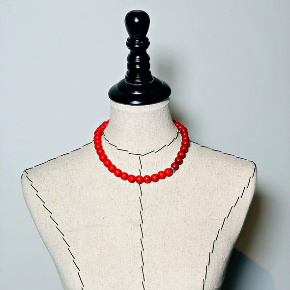 Gumball Necklace No. 2 in Reds - JulRe Designs LLC