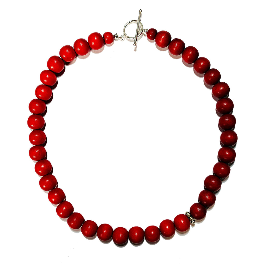 Gumball Necklace No. 2 in Reds