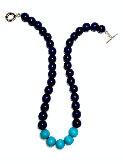 Gumball Necklace No. 3 in Blues - JulRe Designs LLC