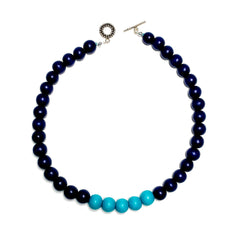 Gumball Necklace No. 3 in Blues