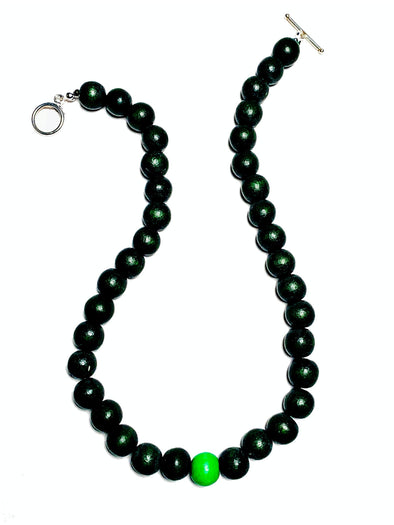 Gumball Necklace No. 3 in Greens