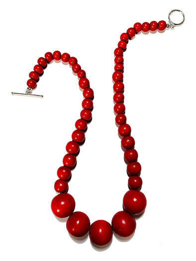 Gumball Necklace No. 3 in Red - JulRe Designs LLC