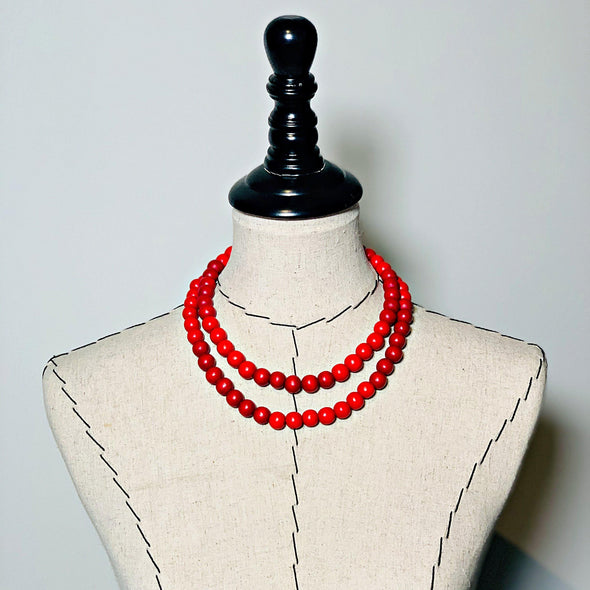 Gumball Necklace No. 4 in Reds - JulRe Designs LLC