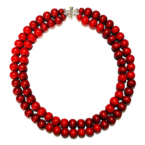 Gumball Necklace No. 4 in Reds