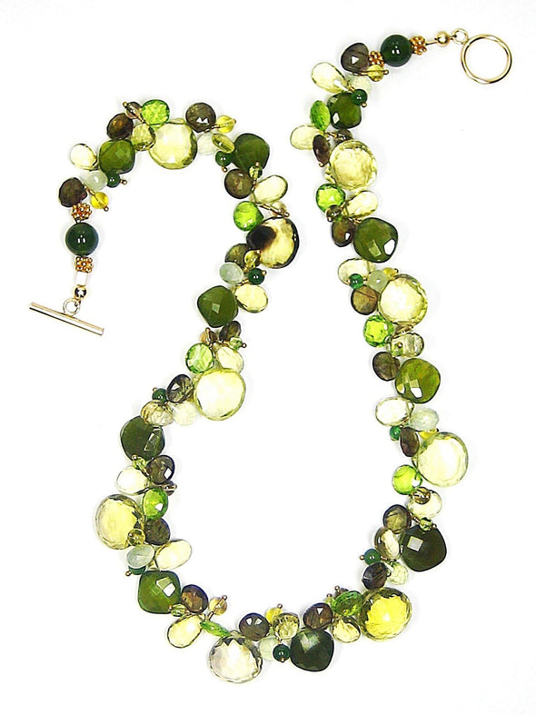 Field Greens Necklace - JulRe Designs LLC