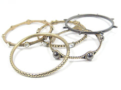 Eclectic Mixed Metal Bangle Bracelets