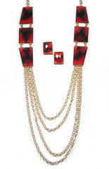 Rayna Necklace Set in Tortoise