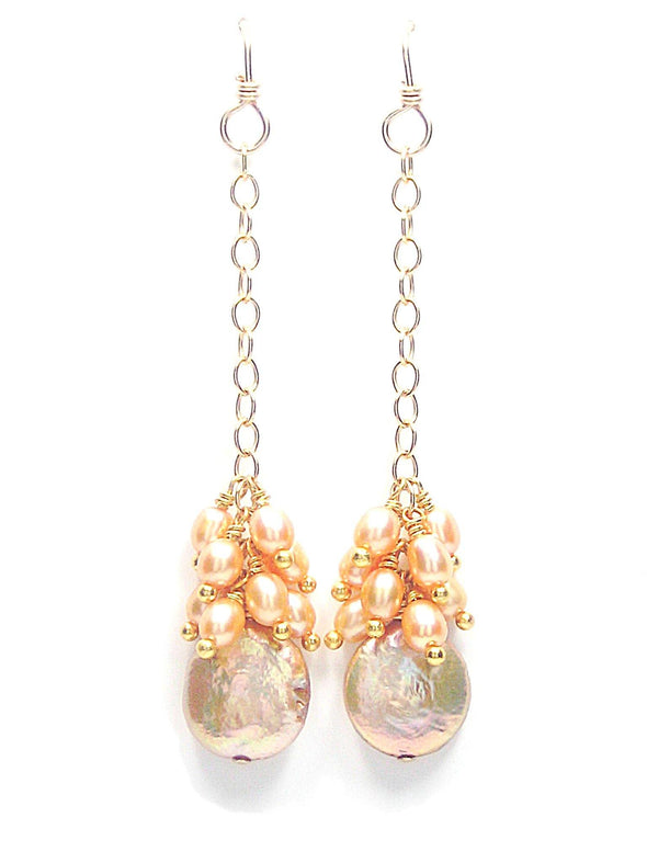 Golden Sunset Earrings - JulRe Designs LLC