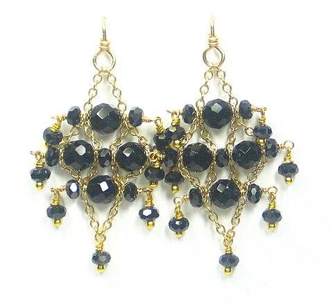 Gilded Black Pepper Earrings